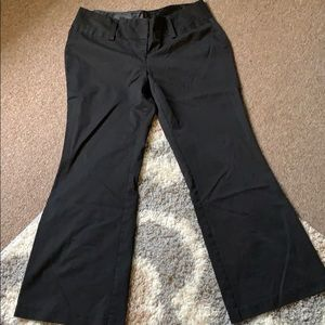 Wide leg low waist dress pants